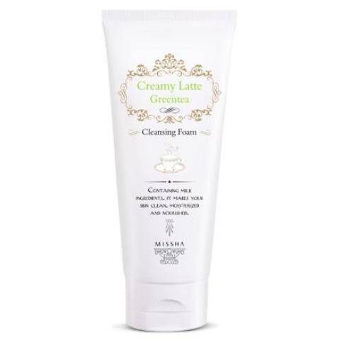 Missha Creamy Green Tea Latte Cleansing Foam - 24kart