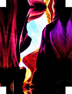 Antelope Canyon, Rocks, Sunlight and Magical Colors By Gio - Stretched canvas print ready to hang