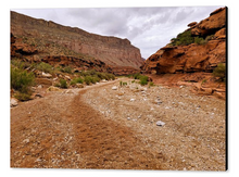 The Grand Canyon, Walking down Havasu Canyon By Gio - Stretched canvas print ready to hang