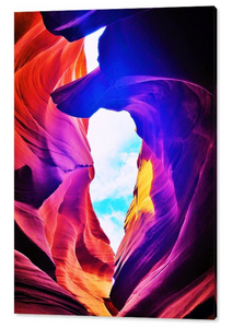 Antelope Canyon, Window in the Rocks By Gio - Stretched canvas print ready to hang