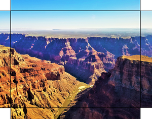 The Grand Canyon, Builders of Canyons By Gio - Stretched canvas print ready to hang