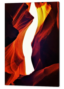 Antelope Canyon, That Sacred Place By Gio - Stretched canvas print ready to hang