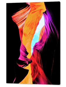 Antelope Canyon, Leprechaun's Cave By Gio - Stretched canvas print ready to hang
