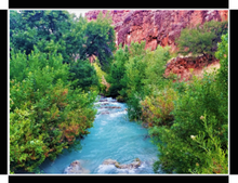 The Grand Canyon, Havasu Creek By Gio - Stretched canvas print ready to hang