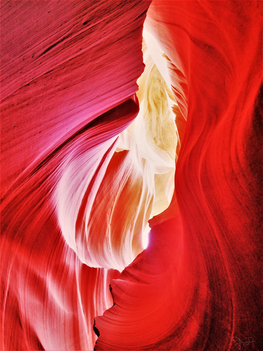 Antelope Canyon, Beyond The Red Stone Walls By Gio - Stretched canvas print ready to hang