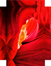 Antelope Canyon, Deeper Red By Gio - Stretched canvas print ready to hang