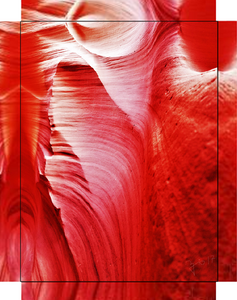 Antelope Canyon, Legacy of Time and Water By Gio - Stretched canvas print ready to hang