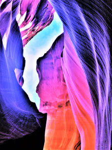 Antelope Canyon, Vivid By Gio - Stretched canvas print ready to hang