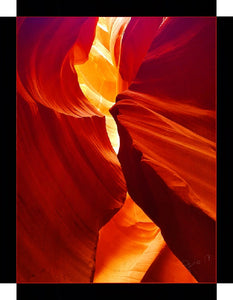 Antelope Canyon, Yellows and Reds By Gio - Stretched canvas print ready to hang