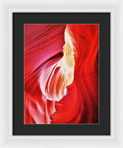 Beyond The Red Stone Walls - Framed Print
