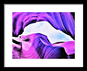 Contours In Purple - Framed Print