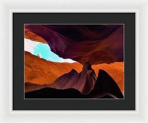 In The Shade Of The Ancient Rock Formations - Framed Print