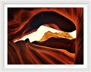Peeking At Mounds Of Gold - Framed Print