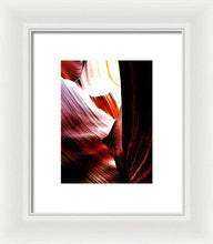 The Polished Rocks Of Lower Antelope Canyon - Framed Print