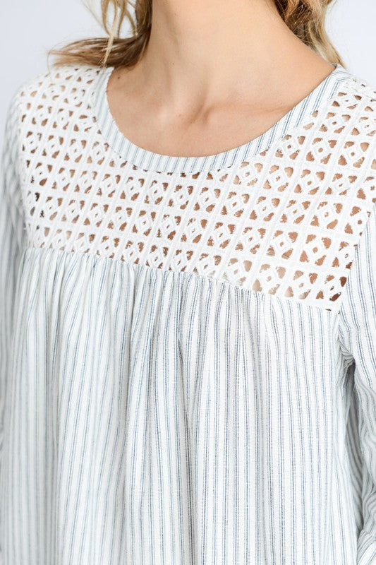 A Day in the Park Eyelet Embroidered Top