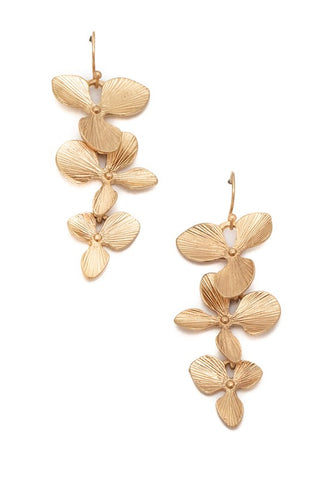 Gold Floral Blossom Earrings