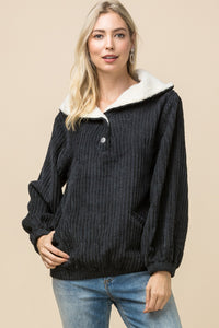 Ryder Black Corduroy Pull-Over