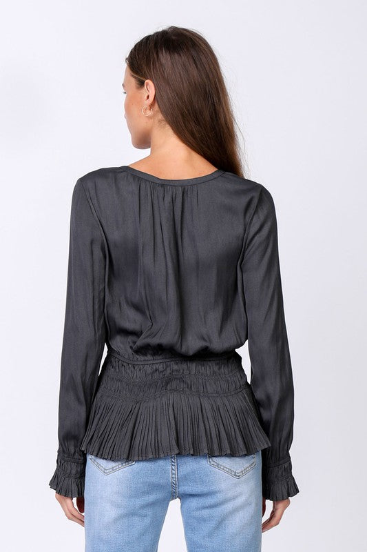 Bailey Charcoal Blouse