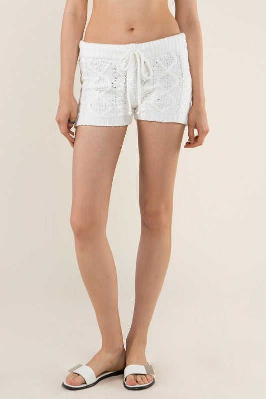 Cozy White Shorts
