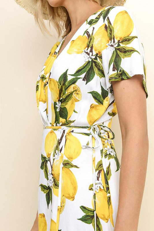 Palermo Lemon Wrap Dress