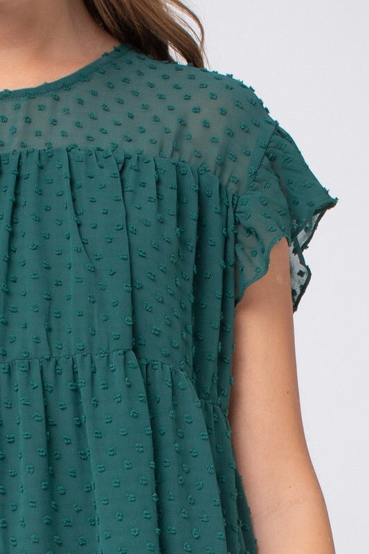 Hunter Green Short Sleeve Top