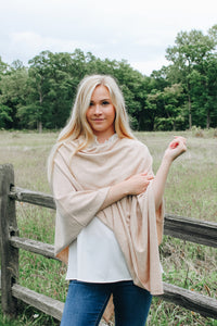 The Oakwood Tan Poncho