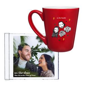 "Us The Family Coffee Mug + ""Our Favorite Time of Year"" CD"