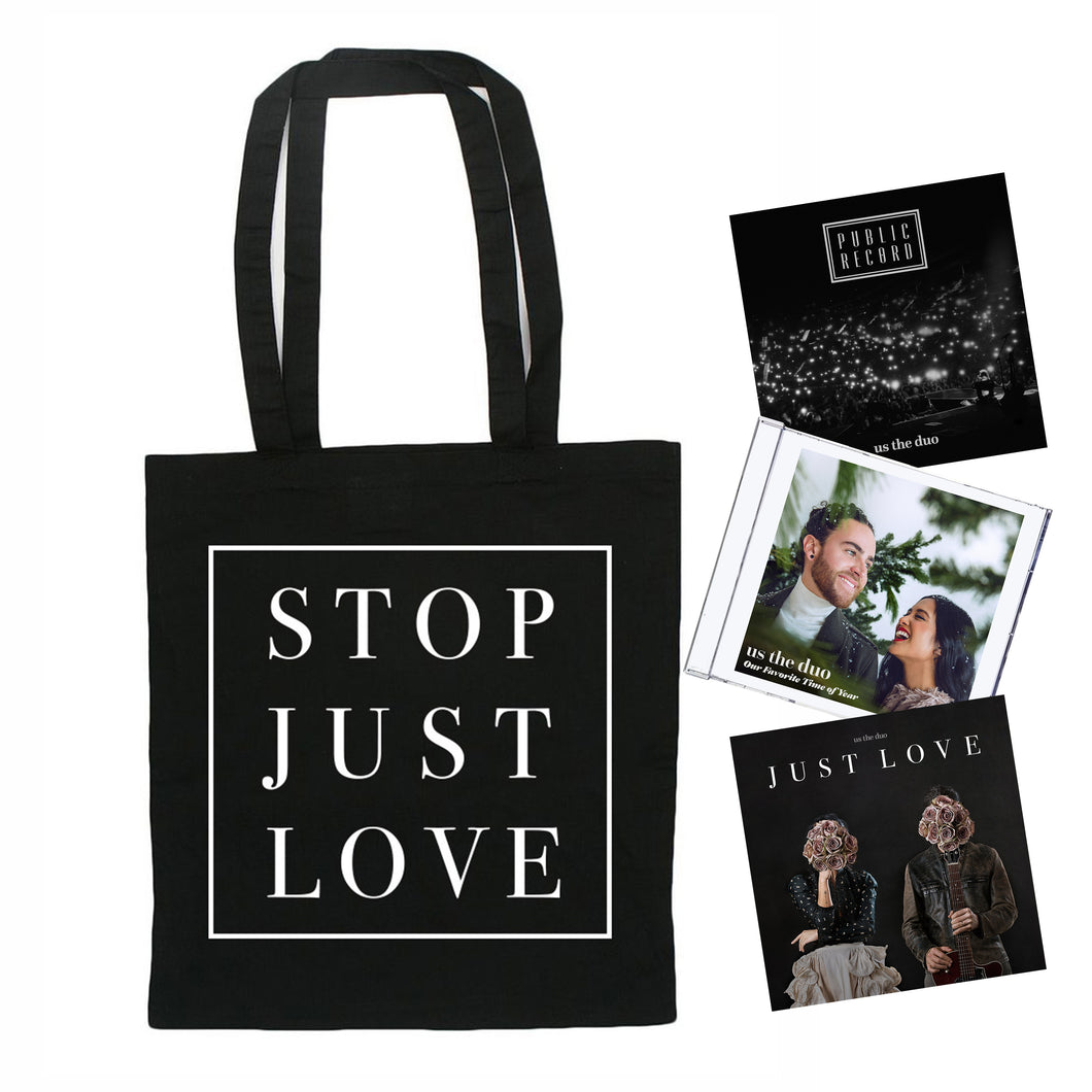 Tote Bag + 3 CD's