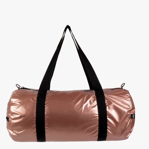 LOQI Weekend bag i rosa gull og New York print