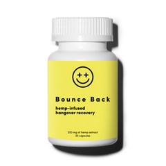 Bounce Back Hangover Recovery and Prevention Pills (30 Capsules) - Morning After Alcohol Relief Aid with Dihydromyricetin (DHM), Hemp Extract, Milk Thistle, Prickly Pear Extract, B Vitamins