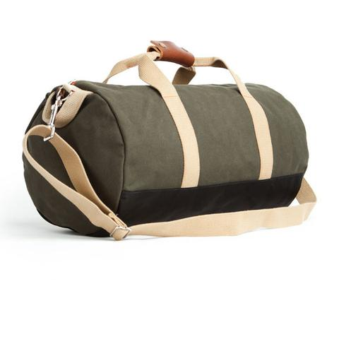 Army Green Work Hard Play Hard Duffel Bag