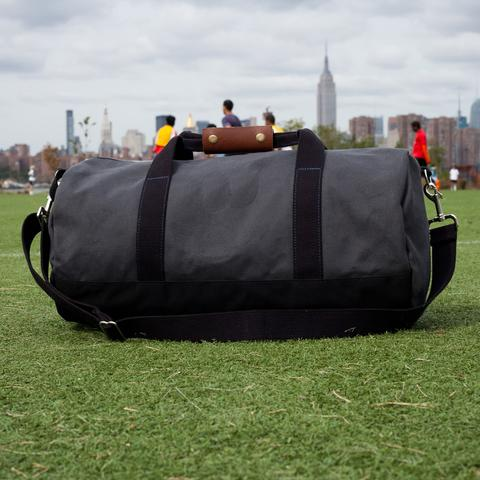 Grey Work Hard Play Hard Duffel Bag
