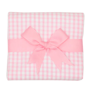 Gingham Fabric Burp Cloth