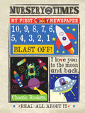 Nursery Times Crinkly Newspaper - 10,9,8...Blast Off!