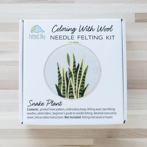 Snake Plant Needle Felting Kit