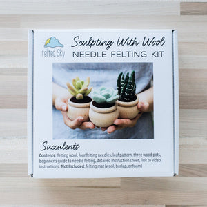 Succulents Needle Felting Kit