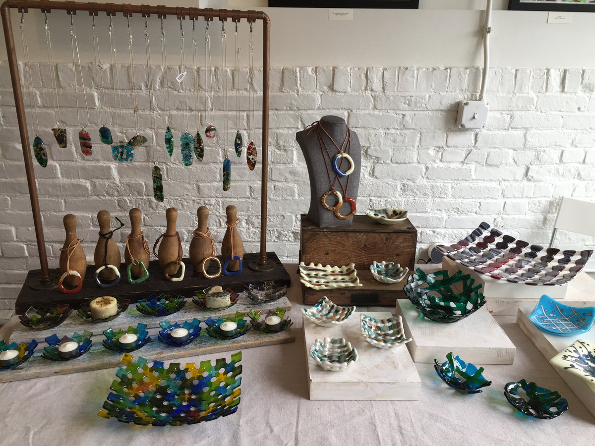 fused glass art one-of-a-kind events