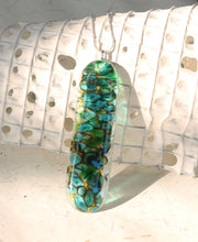 *Organic Long Fused Glass Pendant Pebble Technique