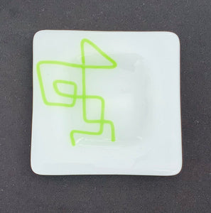 Scribble Appetizer Plate - Lime Green