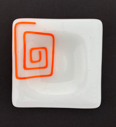 Scribble Appetizer Plate - Orange