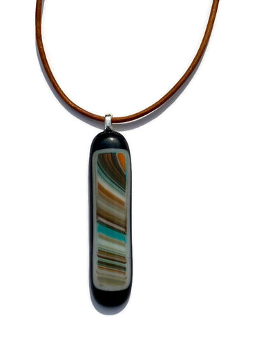 Red earth, blue sky pendant - Large