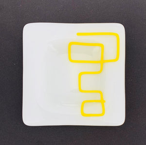 Scribble Appetizer Plate - Yellow