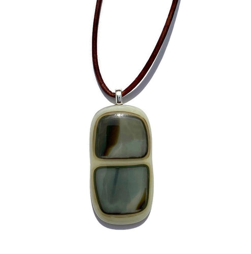 Sandy beach pendant - mocha, cream and grey