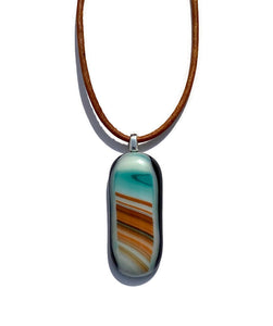 Red earth, blue sky pendant - small