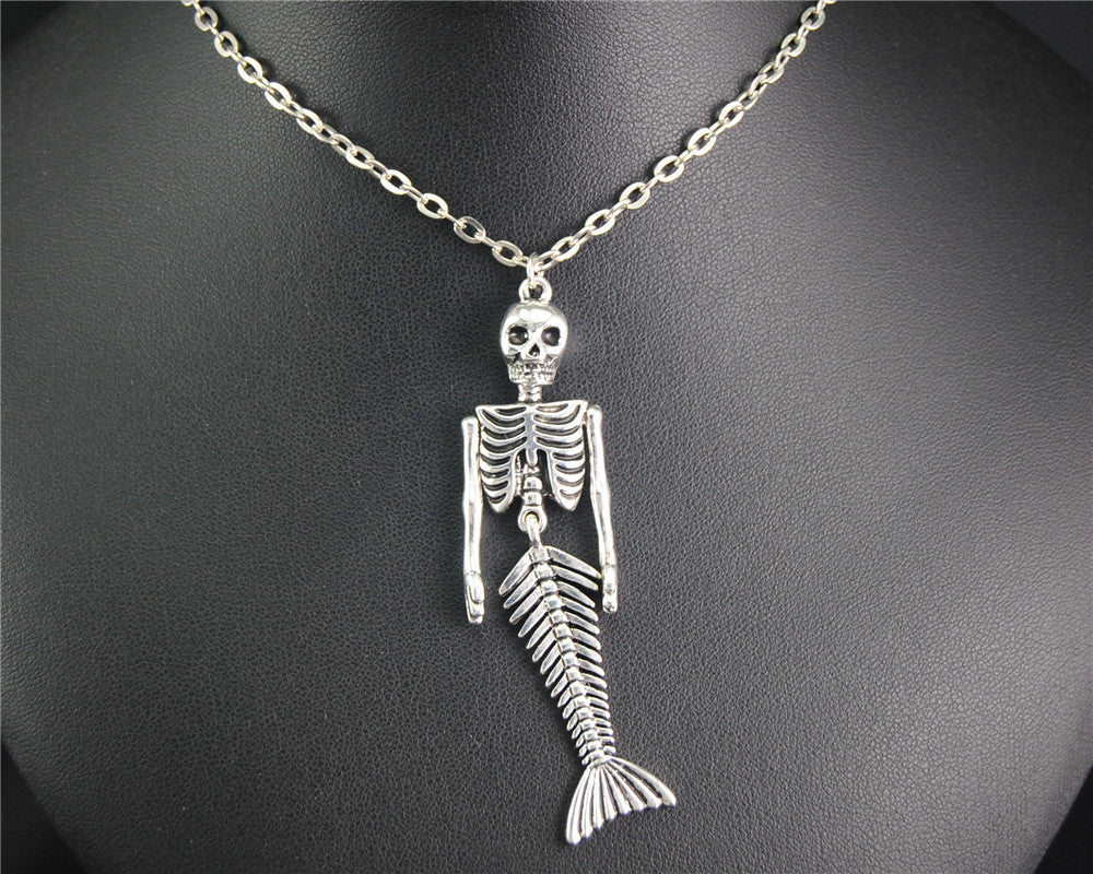 Mermaid skeleton pendant mermaid obsessed mermaid skeleton pendant aloadofball Image collections