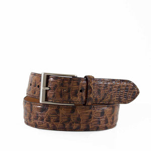 Genuine Vintage Caimen Crocodile Casual Belt