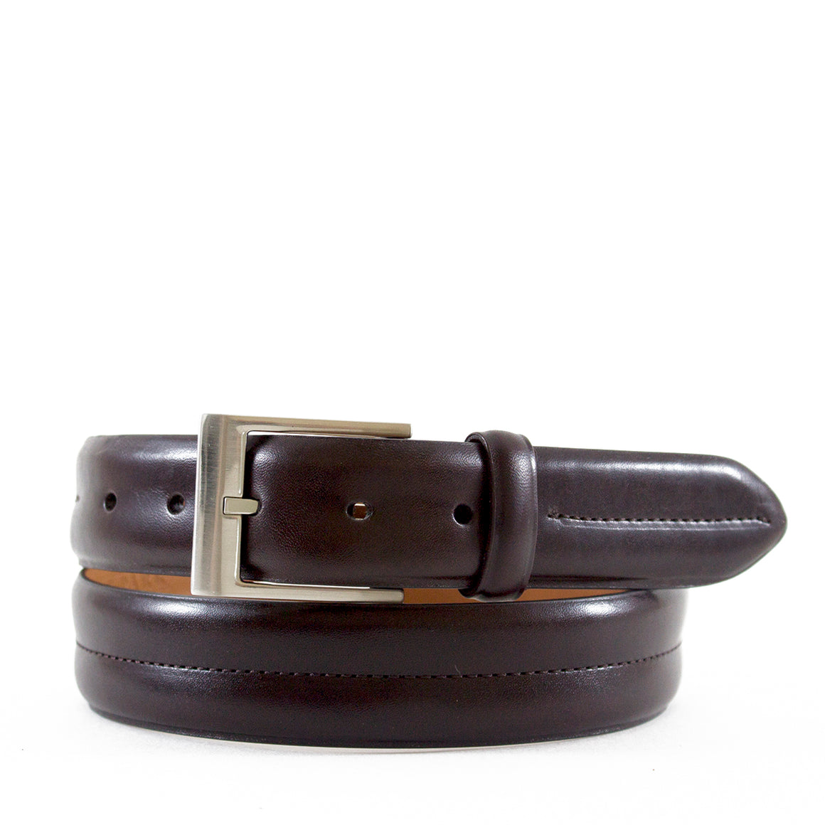 Double Barrel Monte Carlo Genuine Leather Belt