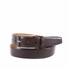 Leather Belt with Genuine Alligator Loop