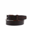 Glazed Nappa and Nubuck Leather Belt