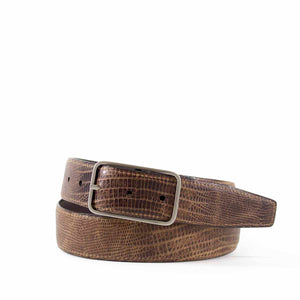 Reversible Burnished Lizard Grain Belt